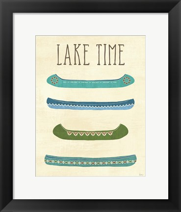 Framed Lake Retreat V Print
