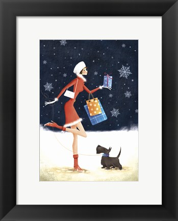 Framed Holiday Shopping Print