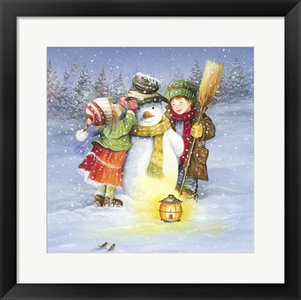 Framed Let Me Fix Your Winter Hat Print