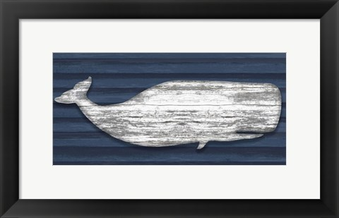 Framed Weathered Whale Print