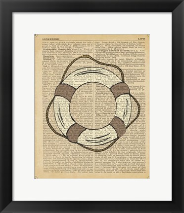 Framed Nautical Series - Life Preserver Print