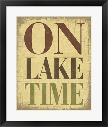 Framed On Lake Time Print