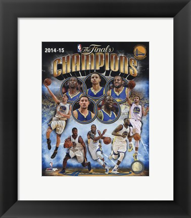 Framed Golden State Warriors 2015 NBA Finals Champions Composite Print