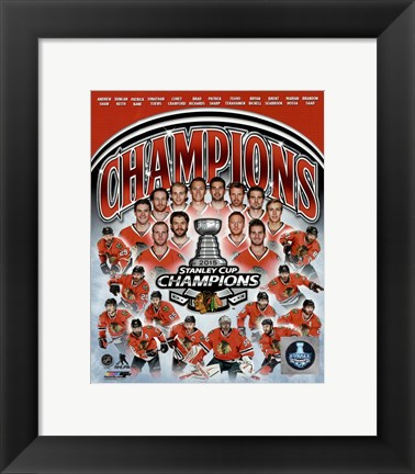 Framed Chicago Blackhawks 2015 Stanley Cup Champions Composite Print