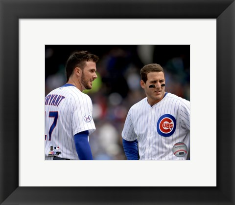 Framed Kris Bryant & Anthony Rizzo 2015 Action Print