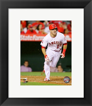 Framed Mike Trout 2015 Action Print