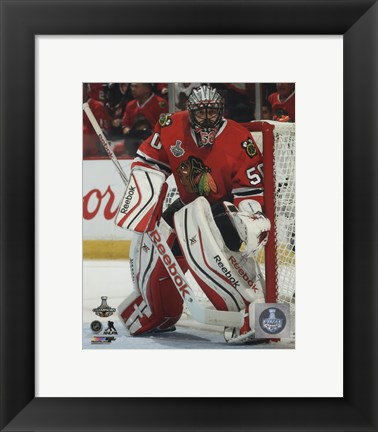Framed Corey Crawford Game 6 of the 2015 Stanley Cup Finals Print