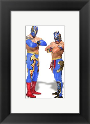 Framed Lucha Dragons 2014 Posed Print