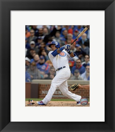 Framed Addison Russell 2015 Action Print