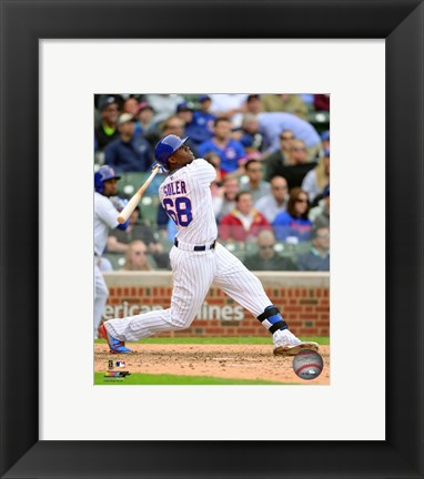 Framed Jorge Soler 2015 Action Print