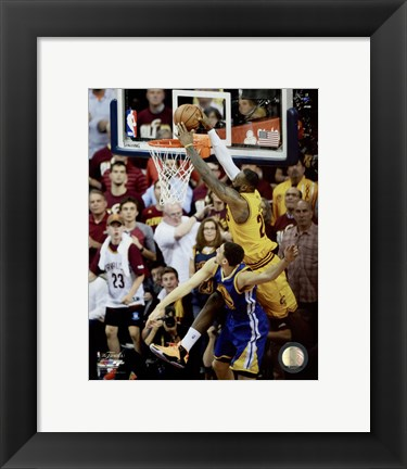Framed LeBron James Game 3 of the 2015 NBA Finals Print