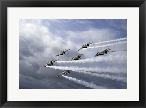 Framed Swedish Air Force display team Print