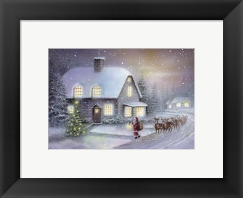 Framed Santa's Almost There Print