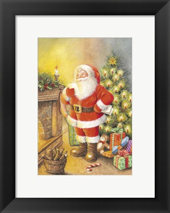 Framed Santa's Note Print