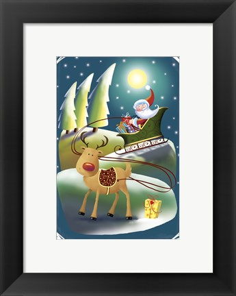 Framed Rudolph In The Lead Print