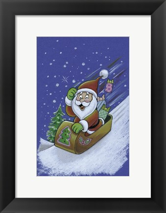 Framed Santa Hold On To Your Red Cap Print