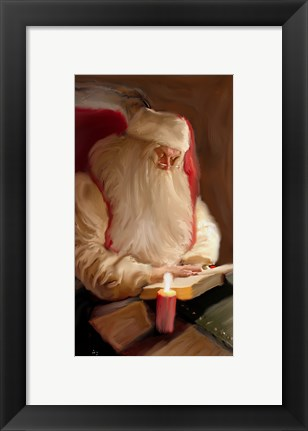 Framed Santa's Tale By Candelight Print