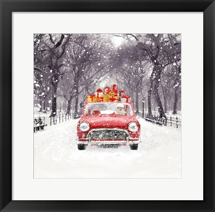Framed Santa's Snow Ride Print