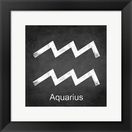 Framed Aquarius - Black Print