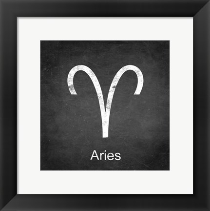 Framed Aries - Black Print