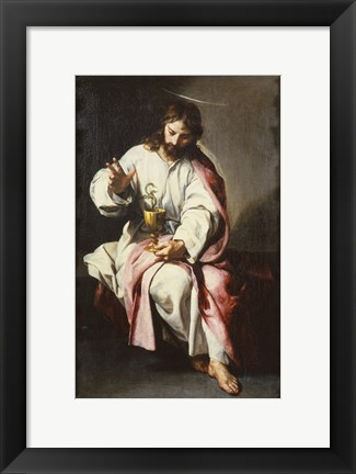 Framed Saint John the Evangelist Print