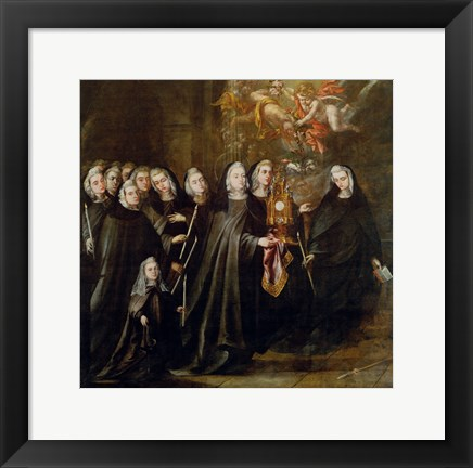 Framed Procession of Saint Clare Print