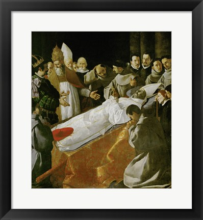 Framed Death of Saint Bonaventura, 1627 Print