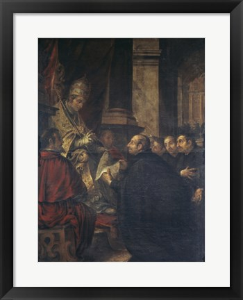 Framed Saint Ignatius of Loyola Receives Papal Bull from Pope Paul III Print