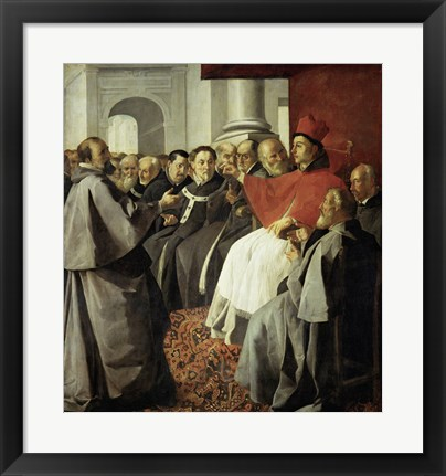 Framed Saint Bonaventura at the Church Council of Lyon Print