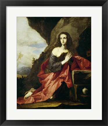 Framed Saint Mary Magdalen or Saint Tais, 1641 Print