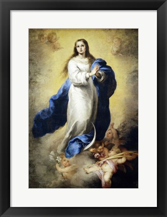 Framed Immaculate Conception of El Escorial, 1656-1660 Print