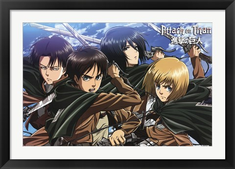 Framed Attack on Titan - Swords Print