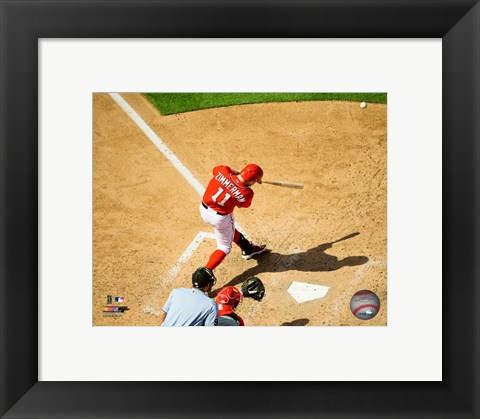 Framed Ryan Zimmerman 2015 Action Print