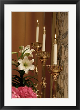 Framed Easter Candles Print