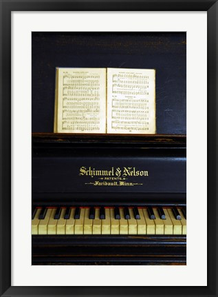 Framed Piano Print