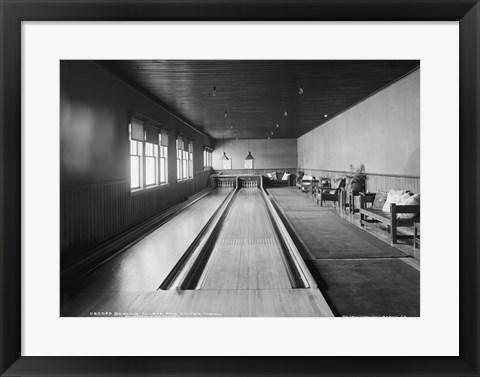 Framed Bowling alleys, Paul Smith's Casino Print