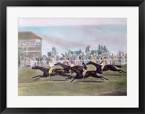 Framed Racing Print