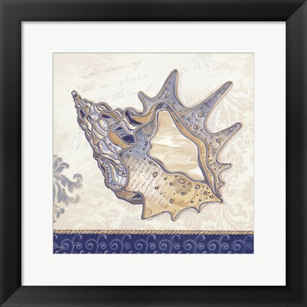 Framed Ocean Conch Print