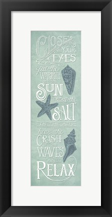 Framed Close Your Eyes Print