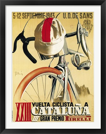Framed Vuelta Ciclista XXIII Cataluna Bicycle Print