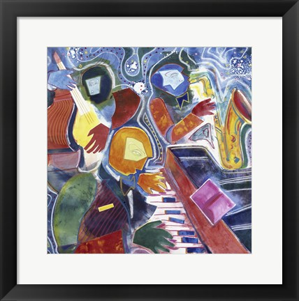 Framed Jazz Messenger II Print