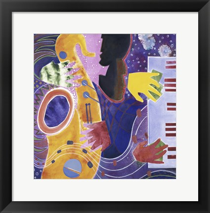 Framed Piano III Print