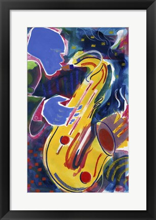 Framed Hot Sax Print