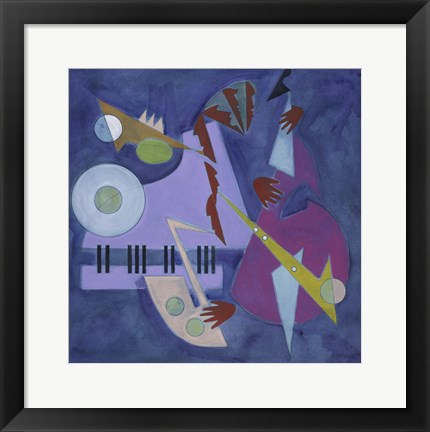 Framed Moonlight and Music Print