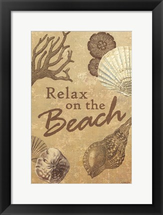 Framed Relax on the Beach Print