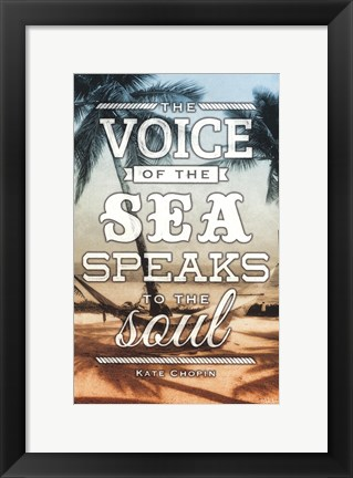 Framed Voice of the Sea Print