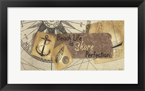 Framed Shore Perfection Print