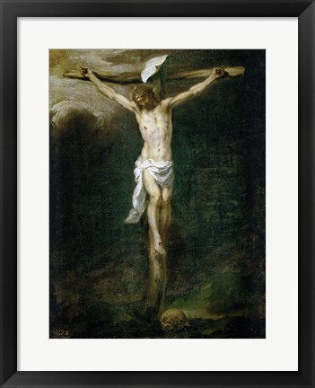 Framed Christ on the Cross Print
