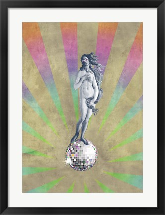 Framed Disco Venus Print