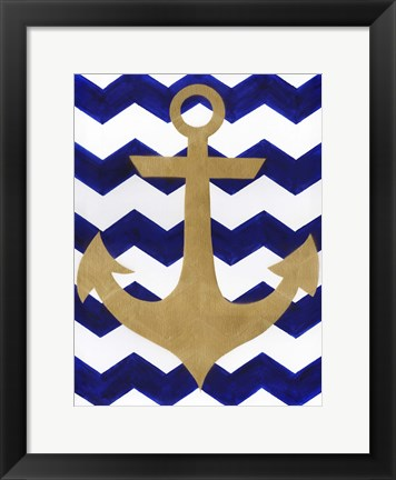 Framed Chevron Anchor Print